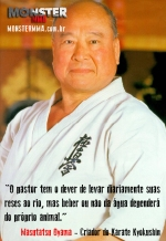 Mas oyama Frase karate