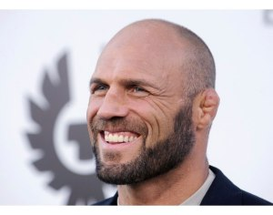"Randy Couture attends the premiere of the film ""The Expendables"" in Los Angeles"