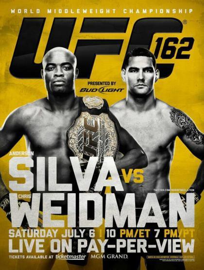 Pôster oficial UFC 162 (Foto: Divulgação/UFC)