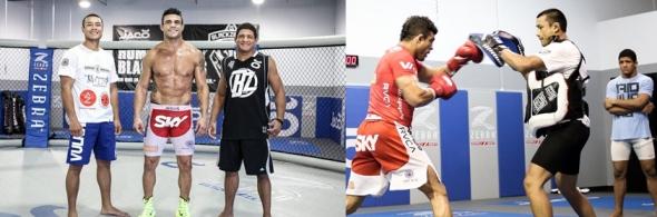 Andrews e Belfort em treinamento para luta do UFC São Paulo